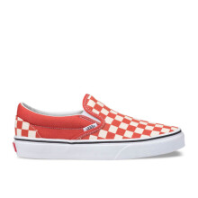 VANS Ua Classic Slip On - (Checkerboard) Hot Sauce/True White