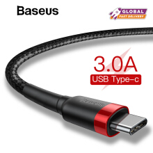 Baseus USB Type C Cable USB 3.1 Type-C Phone Charger For Samsung Xiaomi Huawei Quick Charge QC 3.0 Adapter Data Cord USB-C Cable