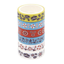 WIGGLE Nautical Set Of 6 Adhesive Tapes