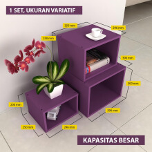 Pro Design Bonsu Set Rak Multifungsi PURPLE (BONSU-SET JB) Purple