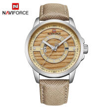 NAVIFORCE Men Watch 3ATM Waterproof Top Brand Luxury Leather Wristwatch Man Date Week Quartz Fashion Clock