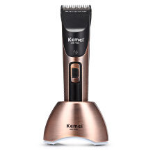 Kemei KM - 7500 Electric Hair Clipper Rechargeable LCD Cordless Adjustable Trimmer Kit0.89EU Plug0.89Gold