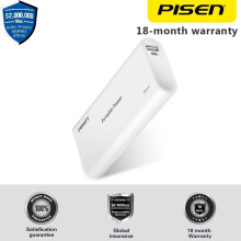PISEN Portable Power Bank 10000mAh Micro USB Smart USB Untuk Iphone Samsung HTC LG Garansi 18 bulan & Asuransi Global Powerbank White