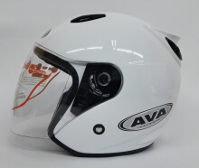 AVA SS7 Helm Half Face - White Metallic