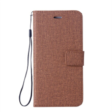 MOONMINI Samsung Galaxy A7 2018 Cotton Fabric Material Protective Wallet Case with Card Slots Cover