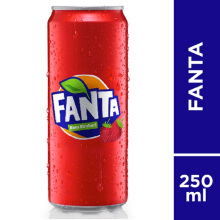 FANTA Strawberry Slim Can Carton 250ml x 24pcs