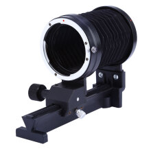 Macro Extension Close-up Bellows for Canon EF Mount DSLR Cameras  - Black