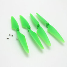 [kingstore] 4pcs Drone Propellers Blades Quick-release Spare Parts for Hubsan H502S Black