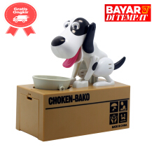 tomindo my dog piggy bank black white
