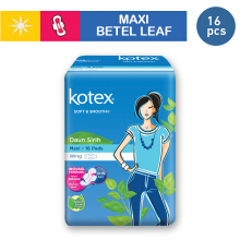 KOTEX Soft & Smooth Maxi Wing Daun Sirih - 16 S