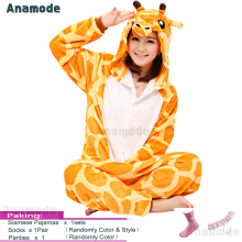 Anamode Flannel Cartoon Animal Siamese Pajamas Winter Home Clothes Cosplay Costume -Fawn -