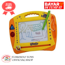 Tomindo Drawing Board 6671 mainan papan tulis anak - yellow