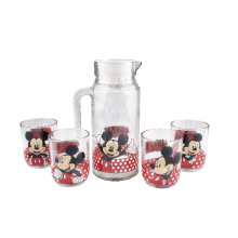 BRILIANT Disney New Mickey Mouse Drink Set with White Lid