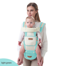 Jantens kangaroo baby carrier backpack sling wrap hipseat for newborn children blue Blue