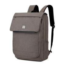 COZIME DTBG D8176W 15.6-Inch Flip Type Backpack Unisex Waterproof Nylon Computer Bag Brown