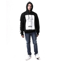 G-SHOP - MEN SWEATER JAKET HOODIES DISTRO PRIA - RDH 1408 - HITAM SIZE- M