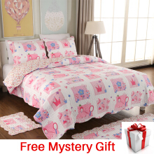 VINTAGE STORY Shabby Bed Cover Set Korea Size Single 150x200 cm/A05B150