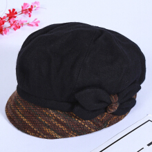 Zanzea 0051Women Winter Leisure Cotton Earmuffs Newsboy Painter Hat Solid Beret Caps Peaked Cap3
