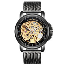 TEVISE 8368 Fashion Sports Wristwatch Men Automatic Mechanical Needle Watch Black