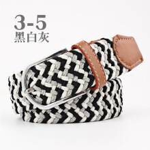SiYing personality Women's canvas casual stretch knitting pin buckle belt