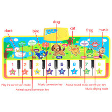 [OUTAD] Kids English Musical Piano Music Carpet Play Mat  Educational Electronic Toy Multicolor