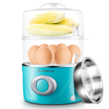 Zhigao (CHIGO) boiled egg double-layer household steamer can cook 14 eggs with 304 stainless steel steam bowl ZDQ201