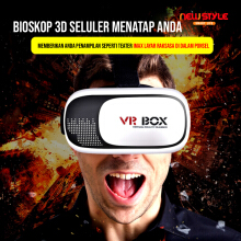 NEWSTYLE Virtual 3D Reality Glasses VR Box Smartphone Black-white