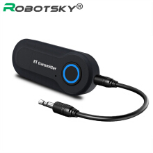 ROBOTSKY Wireless Bluetooth Transmitter Stereo Audio  Adapter USB Plug for MP3 Mp4 Black