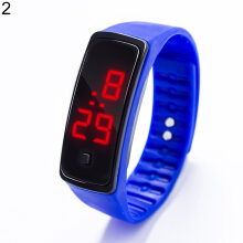 Sports Waterproof Silicone Band LED Digital Wrist Watch