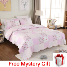 VINTAGE STORY Shabby Bed Cover Set Korea Size Single 150x200 cm/A08B150