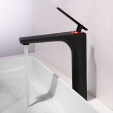 LANGFAN J-8005 Bathroom Sink Faucet-Black