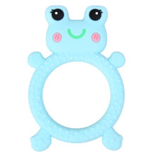 [kingstore] Frog ring silicone molar gel Blue