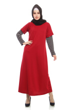 Mybamus Lacos Stripe Dress Maroon M11570A R6S3 All Size