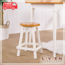 (2pcs) Kursi Bangku Bulat Maple Story - 45 cm - LIVIEN FURNITURE
