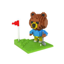 LOZ Large Diamond Block Mainan Anak Edukasi 9427 Bear Golfing