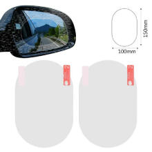 Farfi 2Pcs Rainproof Anti-fog Anti-glare Car Rearview Mirror Protective Film Sticker