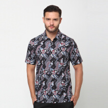 A&D Black Short Sleeve Batik Ms 1118 - Black