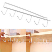 Jantens Multi-functional Kitchen Storage Rack Cupboard Shelf Hanging Hook Wardrobe Organizer Holder Storage Rack
