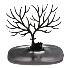 [kingstore] Retro Bird Tree Stand Jewelry Earrings Necklace Ring Show Rack Holder Display Multicolor