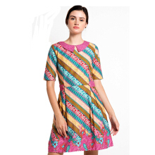 Rianty Batik Dress Wanita Neva - Multicolor