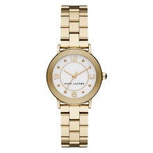 Marc Jacobs Riley MJ3473 Silver Dial Gold Stainless Steel Strap [MJ3473]