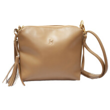Tas Wanita Tas selempang kulit pemice (High Quality) - Light Brown Beauty Gum