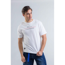 Yishion Crew Neck Top Knit Tee (Short Sleeve) - Men - 13 White