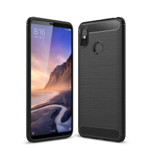 RockWolf Xiaomi Mi Max 3 case luxury brushed carbon fiber TPU soft shell phone case