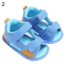 Farfi Toddler Baby Boy Denim Sole Prewalker Anti-Skid Shoes Sandals