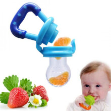 cute baby Food Feeder Fruit Pacifier Empeng Gigitan Buah fresh Teether Baby - KUNING