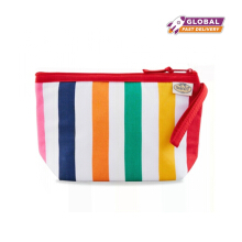 Naraya Rainbow Stripes Printed Cosmetic Bag NBSM-217BN CP131
