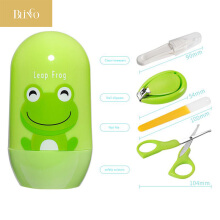 BLINGO Lovely Baby Nail Care Set Scissors Clipper Trimmer Convenient Nail Shell Shear Manicure Kit Green