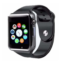 Unique Smartwatch A1 Untuk Smartphone Android Iphone Xioami Oppo Samsung Black (SW-U-A1-B)