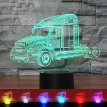 Farfi 3D Truck Seven Colors LED Touch Night Light Room Bedroom Bedside Desk Lamp as the pictures